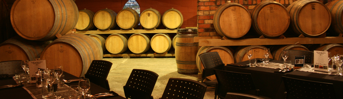 The Barrel Room at Vilagrad Winery